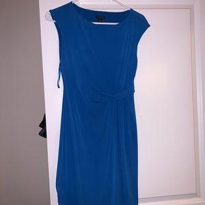 Royal blue work dress